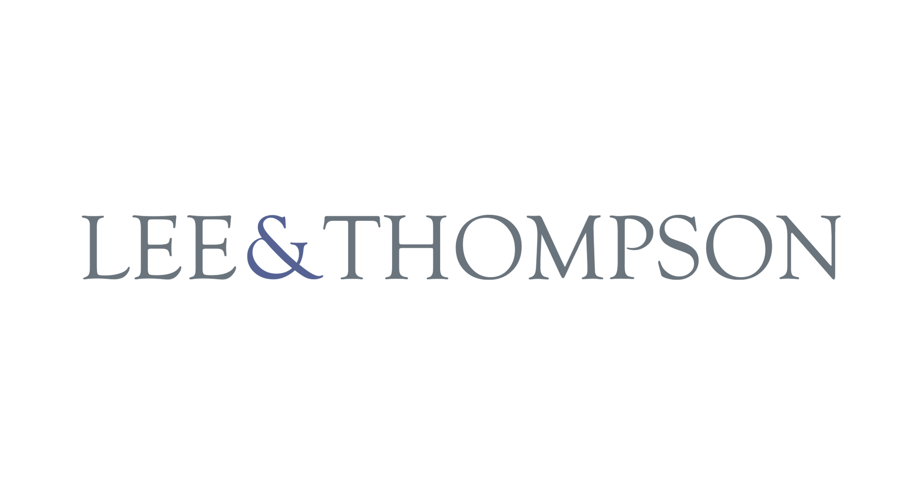 A logo that has the words Lee & Thompson written in a serif typeface