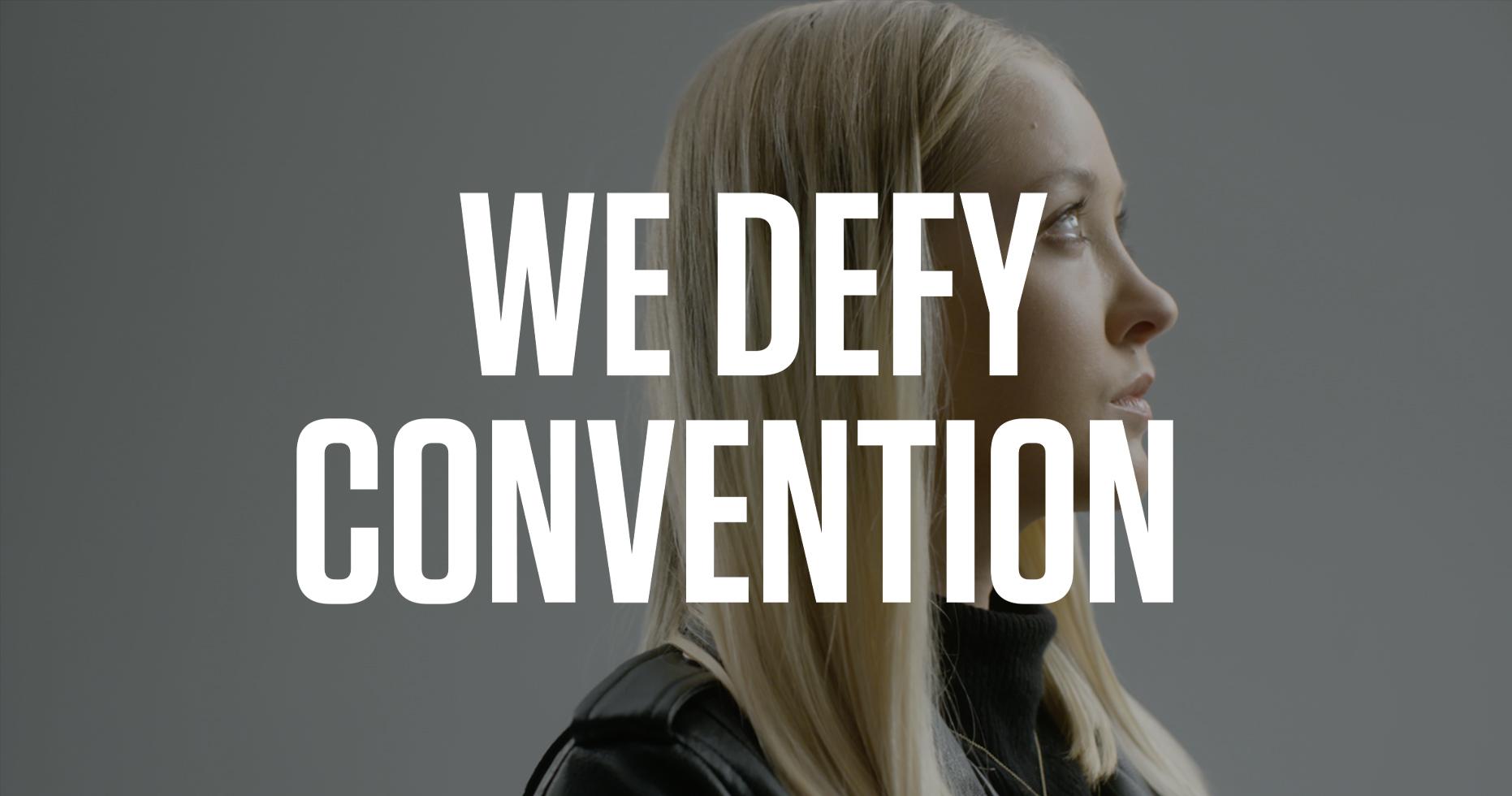 Dorota Szulc portrait with the words 'we defy convention'